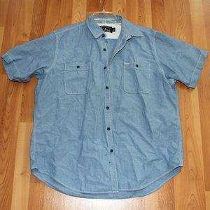 American Living Men's 2 XL Button Down Denim Shirt